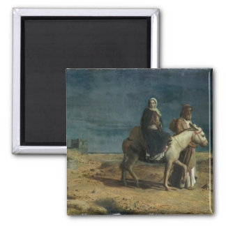 The Flight From The Sword of Herod, 1880 (oil on c Square Magnet