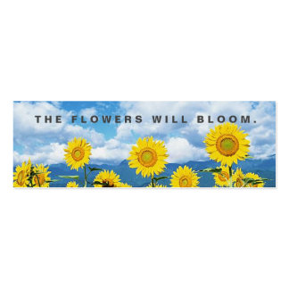 The Flowers Will Bloom Random Acts Kindness Card Pack Of Skinny Business Cards