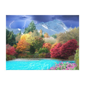 The four Seasons Stretched Canvas Print