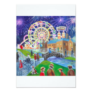 the FunFair oil painting Gordon Bruce art 13 Cm X 18 Cm Invitation Card