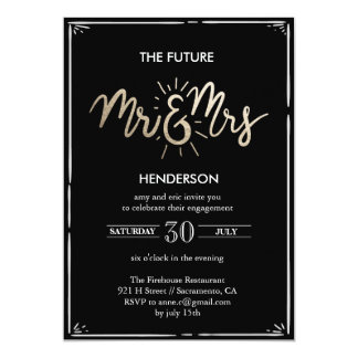 The Future Mr & Mrs Engagement Invitation