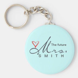 The future Mrs.  - customize your own! Basic Round Button Key Ring