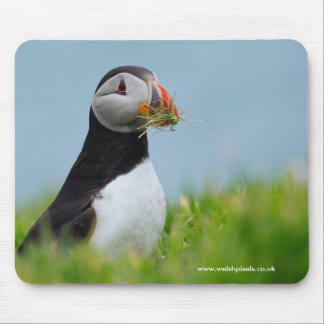 The Gatherer Puffin Mouse Pad