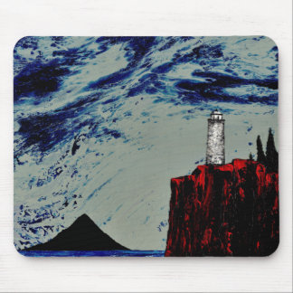 THE GATHERING STORM ~ (lighthouse design) ~ Mouse Pad