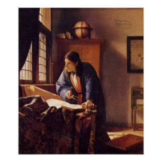 The Geographer by Johannes Vermeer Poster