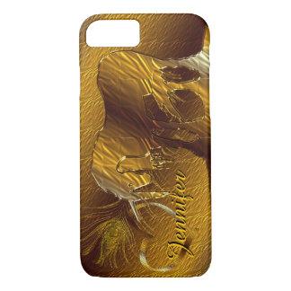 The Golden Unicorn (gold background) iPhone 7 Case