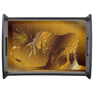 The Golden Unicorn (gold) Food Trays