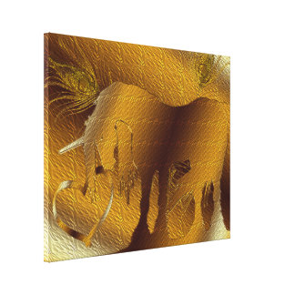 The Golden Unicorn (gold) Stretched Canvas Print