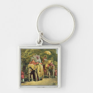 The Governor-General's State Howdah, 1863 (chromol Silver-Colored Square Key Ring