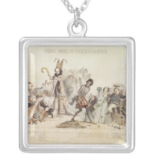 The Great Academic Competition Square Pendant Necklace