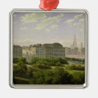 The Hamburg Kunsthalle Silver-Colored Square Decoration