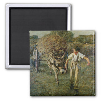 The Haywain, c.1889 (oil on canvas) Square Magnet