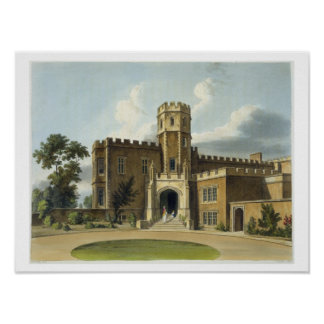 The Head Master's House, Rugby School, from 'Histo Poster