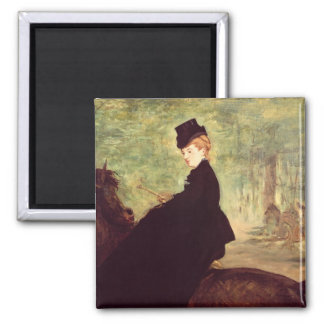 The Horsewoman, 1875 Square Magnet