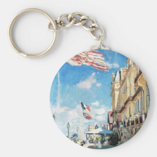 The Hotel of Roches Noires, Trouville Monet Claude Basic Round Button Key Ring