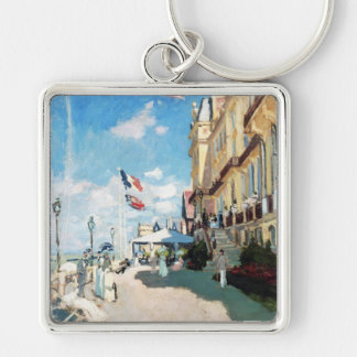 The Hotel of Roches Noires, Trouville Monet Claude Silver-Colored Square Key Ring