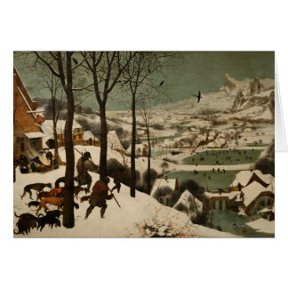 The Hunters in the Snow Pieter Bruegel Christmas Greeting Card