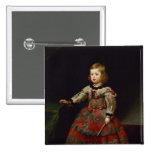 The Infanta Maria Margarita  of Austria 15 Cm Square Badge
