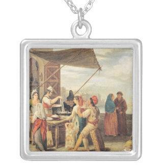 The Italian Market Square Pendant Necklace