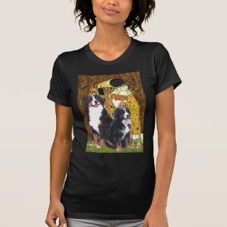 The Kiss - Two Bernese Mountain Dogs Tshirts