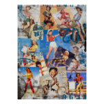 The Kitsch Bitsch : Destroyed Cowgirl Pin-Up No. 1 Poster