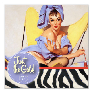 The Kitsch Bitsch : Just The Gals! Spa-tacular! 13 Cm X 13 Cm Square Invitation Card