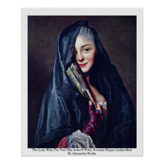 The Lady With The Veil (The Artist'S Wife) Poster
