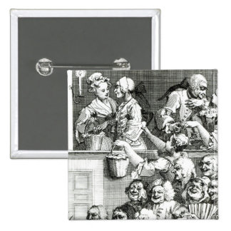 The Laughing Audience, 1733 15 Cm Square Badge
