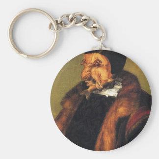 The Lawyer by Giuseppe Arcimboldo Basic Round Button Key Ring