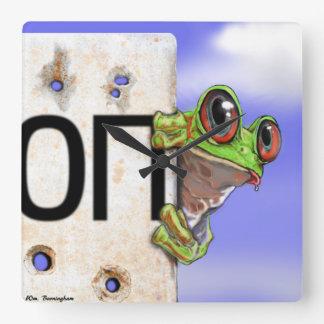 The little green frog in the Ukraine Conflict Wall Clock
