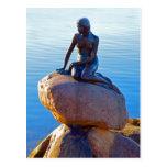 The Little Mermaid in Copenhagen, Denmark Postcard