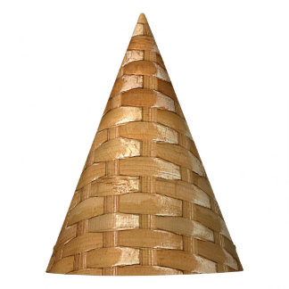 The Look of Lacquer Wicker Basketweave Texture Party Hat