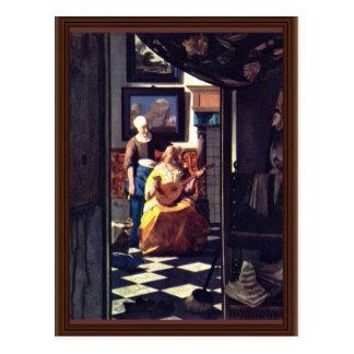 The Love Letter,  By Johannes Vermeer Postcard