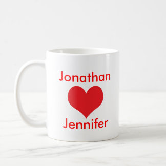 The lovers valentine's gift personalised name mug