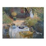 The Luncheon: Monet's garden at Argenteuil Postcard