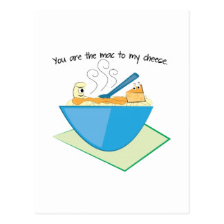 The Mac To My Cheese Postcard