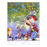 The Mad Hatter's Tea Party in Alice in Wonderland Postcard
