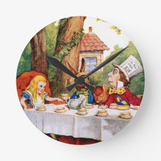 The Mad Hatter's Tea Party in Wonderland Wall Clock