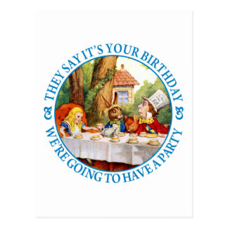 THE MAD HATTER'S TEA PARTY POSTCARD