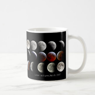 "The magnetic cup ""of Lunar eclipse and March 2007"" Basic White Mug"