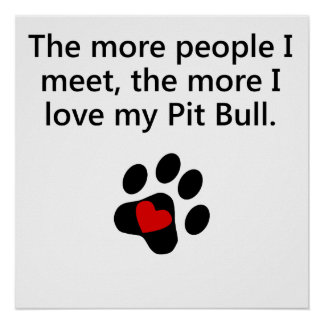 The More I Love My Pit Bull Poster