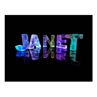 The Name Janet in 3D Lights (Photograph) Postcard