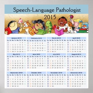 The New 2015 Speech Pathologist's Calendar Poster