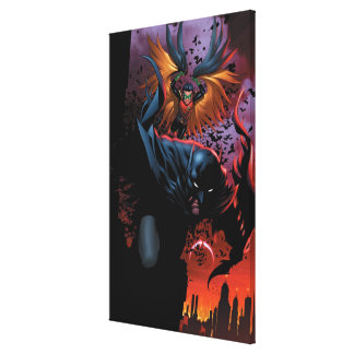The New 52 - Batman and Robin #1 Stretched Canvas Print