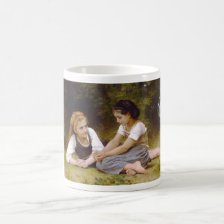 The Nut Gatherers by William Adolphe Bouguereau Basic White Mug