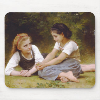 The Nut Gatherers by William Adolphe Bouguereau Mouse Pad