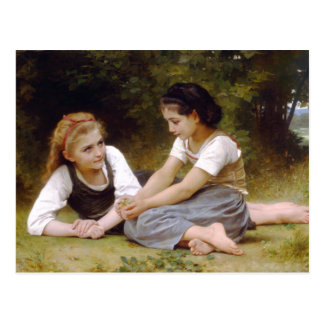The Nut Gatherers by William-Adolphe Bouguereau Postcard
