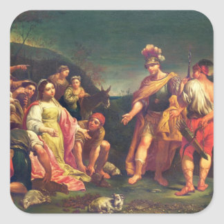The Offering of Abigail before David Square Sticker