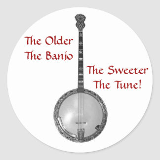 The Older The Banjo Stickers