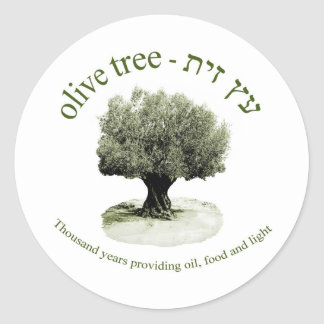 The olive tree, Thousand years providing oil, food Round Sticker
